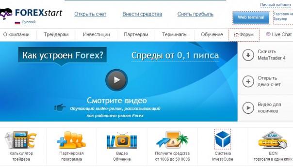 Брокер ForexStart отзывы