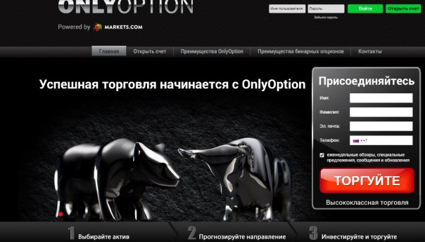 Бинарные опционы Onlyoption отзывы