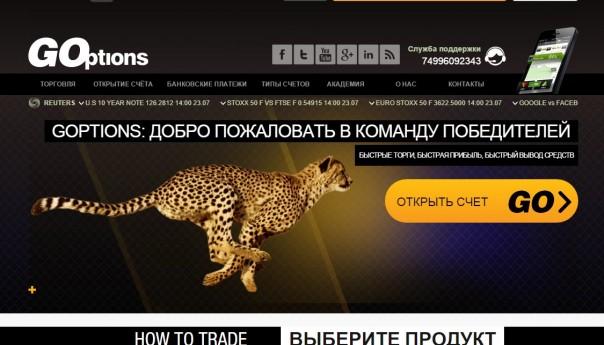 Бинарные опционы Goptions отзывы