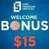 Welcome Bonus 15 USD от FortFS